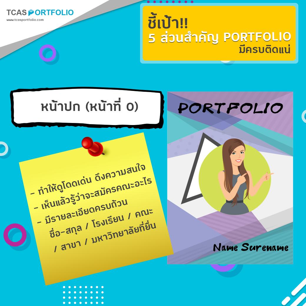 Portfolio ฉบับย่อ แนะนําตนเองแบบย่อสั้นๆ ชี้เป้า!! 5 ส่วนสำคัญ , portfolio ทําไมถึงอยากเข้าคณะนี้